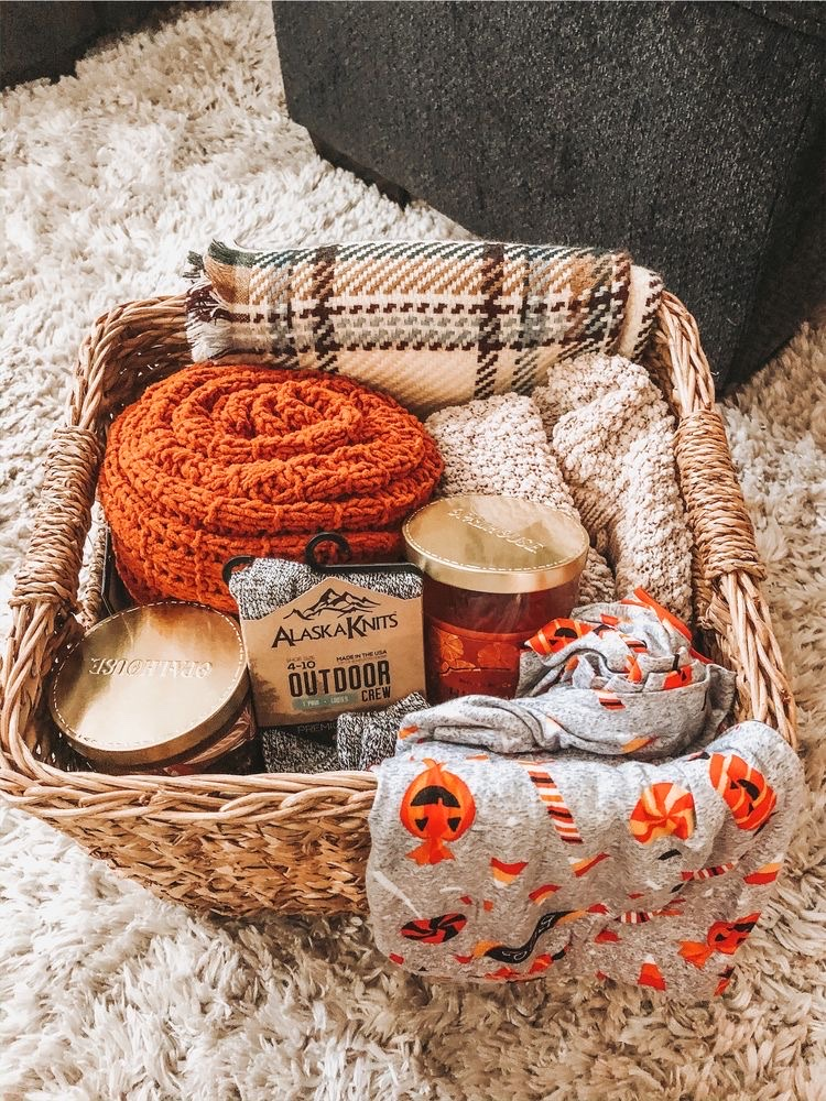 fall items in basket
