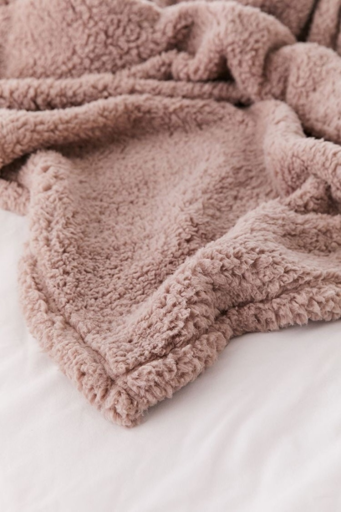 soft fuzzy throw blanket from urban outfitters