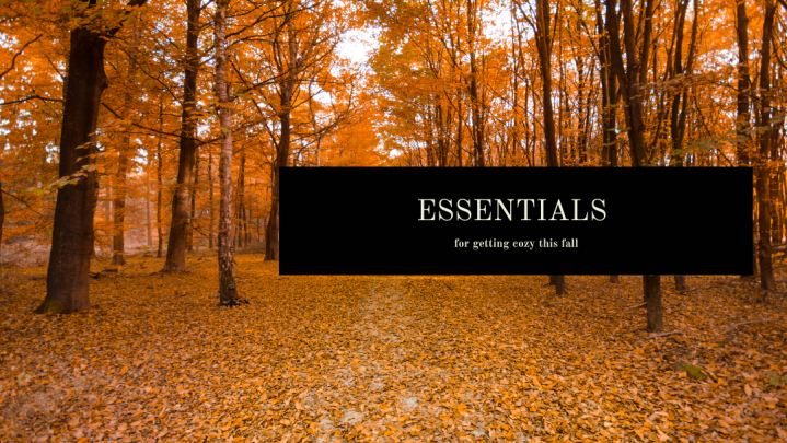 Essentials for gettin' cozy thisfall