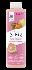 St. Ives Pink Lemon & Mandarin Orange Exfoliating Body Wash 22 oz