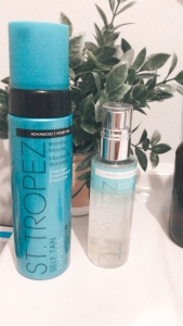 st. tropez self tanning express mousse and st. tropez self tanning face mist