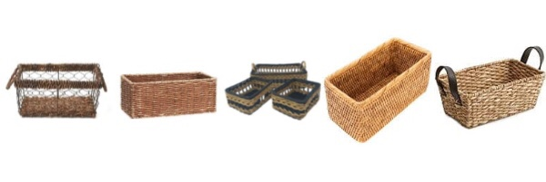 baskets for your shelves