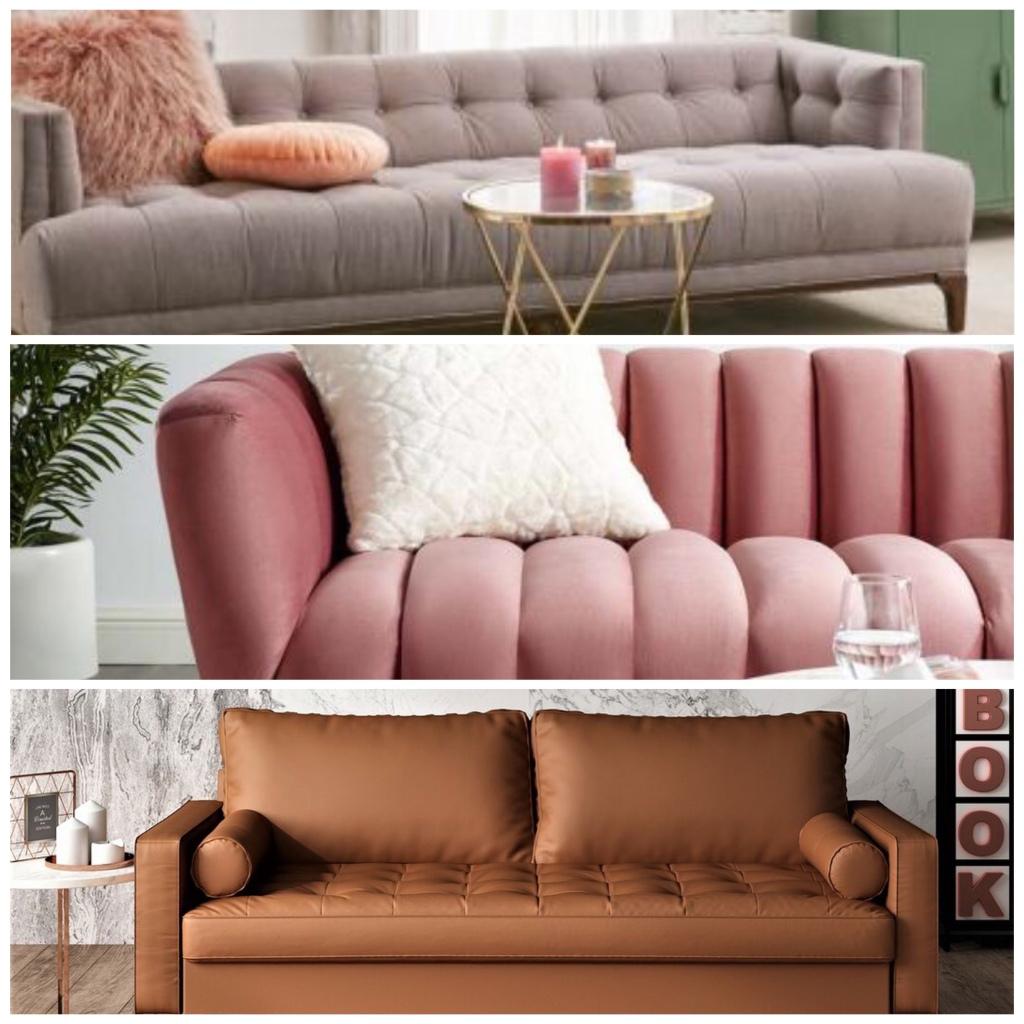 coloured sofas