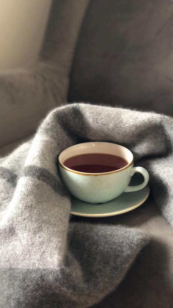 coffee with a cozy blanket