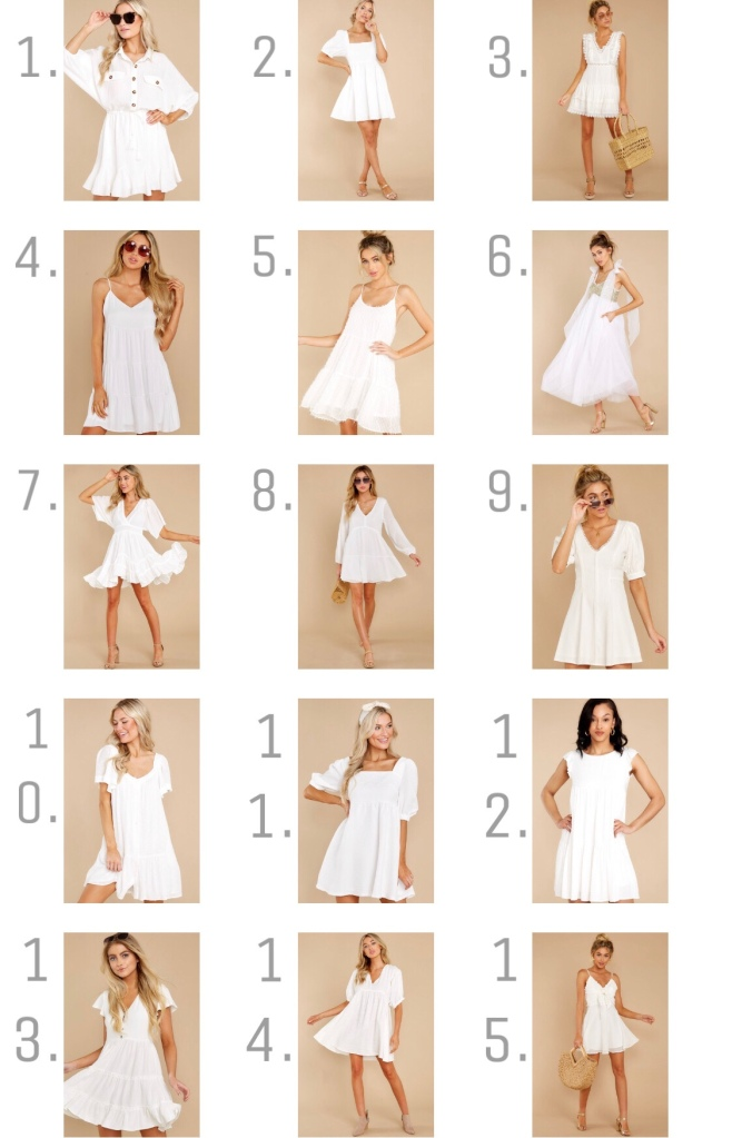 white dress for spring and summer