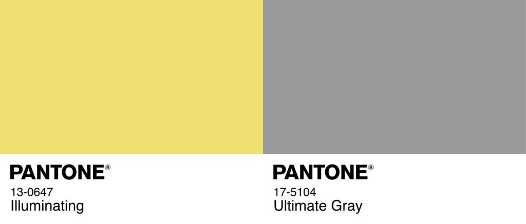 PANTONE 17-5104 Ultimate Gray and PANTONE 13-0647 Illuminating