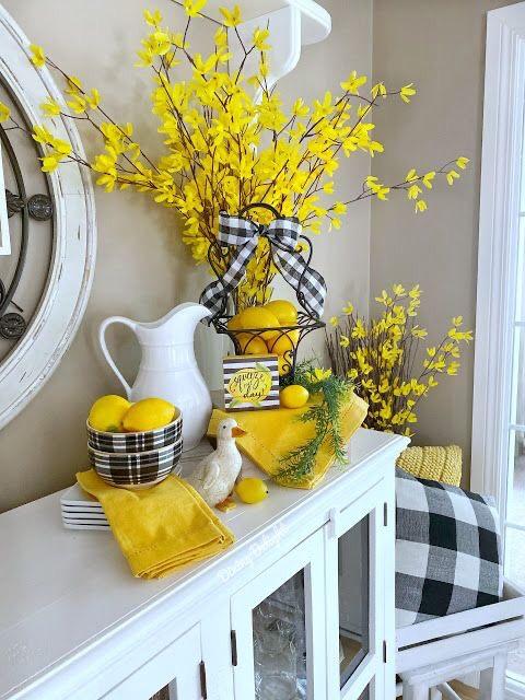 yellow spring decor