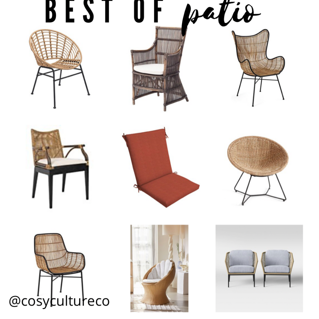 Outdoor patio furniture chair chairs