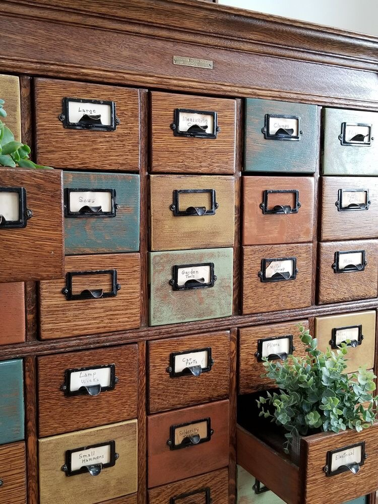 Vintage/antique library card catalog