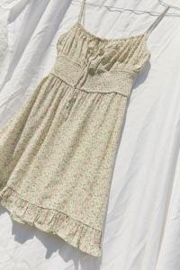 Dress Forum Printed Empire Waist Mini Dress