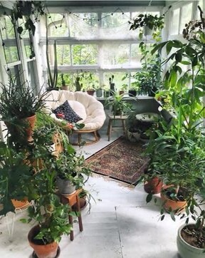 Enclosed porch made into greenhouse room