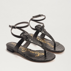 Our Taiya Sandals puts a spin on the minimalist thong sandal style with a wrap around adjustable ankle strap Taiya Thong Sandal Closure: Ankle buckle Toe: Open Toe Material: Leather