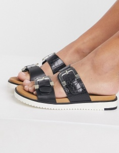 Sandals by Call It Spring It's open-toe season Mock-croc design Slip-on style Adjustable double straps Pin-buckle fastenings Moulded footbed Chunky sole