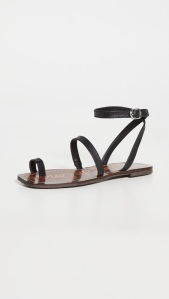 Leather: CowhideFaux leather rigid footbedElastic inset at instepBuckle ankle strap with elastic insetRubber soleImported, ChinaThis item cannot be gift-boxed