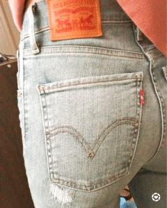 Levi's high waisted wedgie women's jean