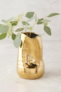 Gold decorative vase