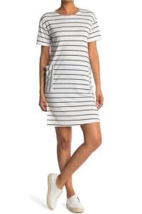 Thin striped pocket dress