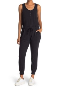 French terry sleeveless jumpsuit