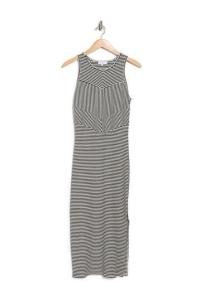 MIDI striped knit dress