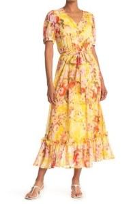 Floral print chiffon modi's dress