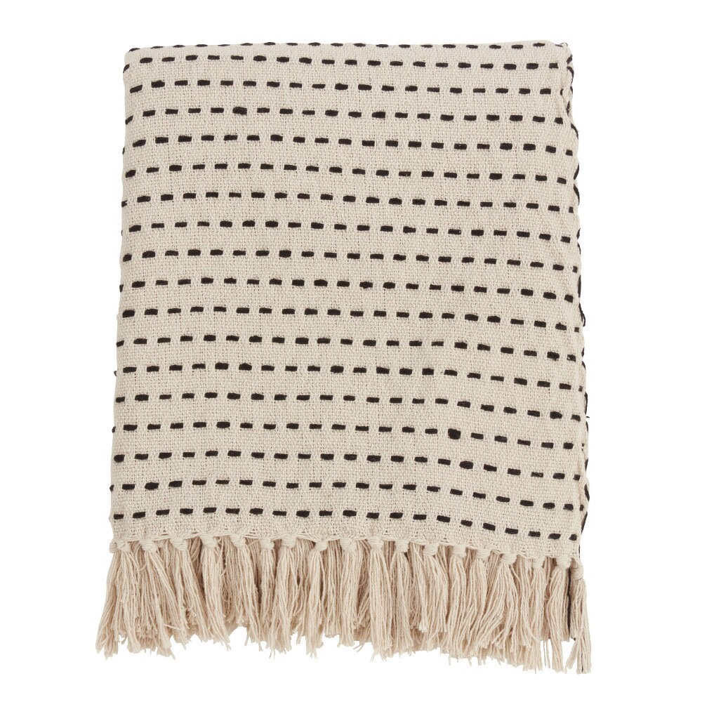 Stitch line throw blanket