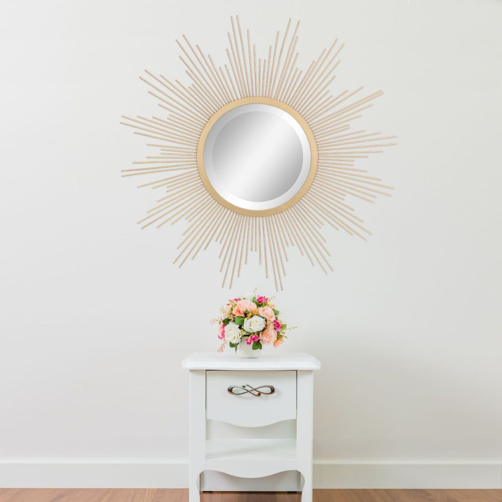 Sunburst Mirror Gold 23 x 23 - Stonebriar Collection by: Stonebriar Collection @Target