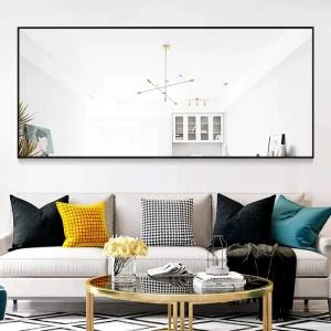 "Abad Simple Oversized Thin Aluminum Alloy Modern Full Length Mirror Latitude Run® Size: 71"" H x 24"" by: Latitude Run® @Wayfair North America"