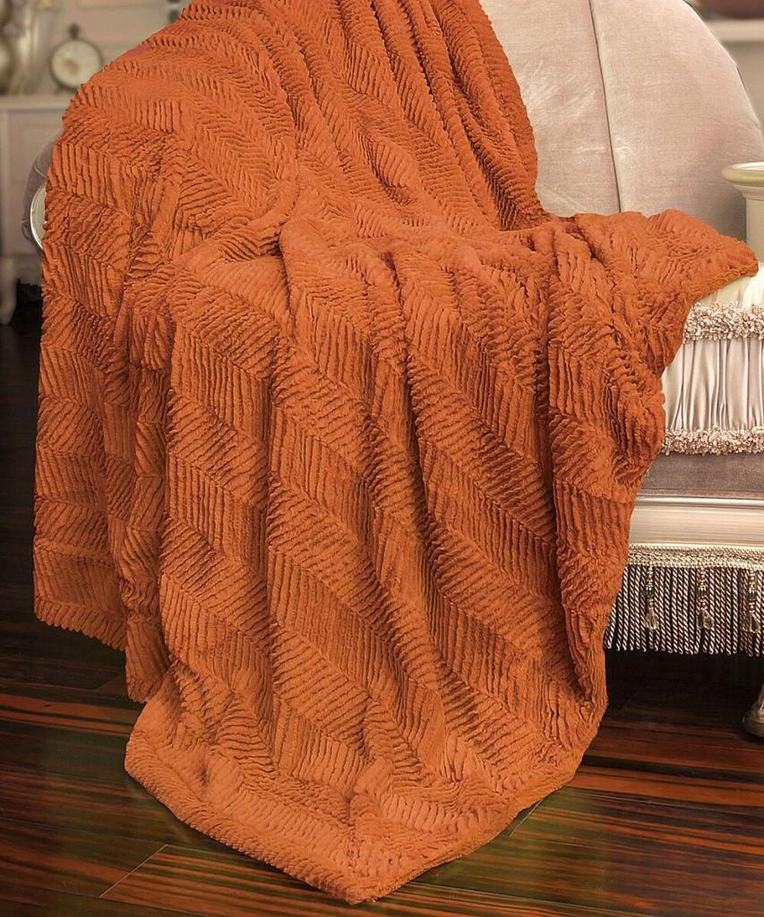 Burnt orange throw blanket